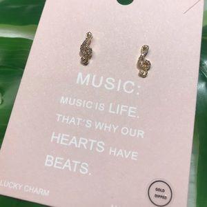 Earrings Music Notes